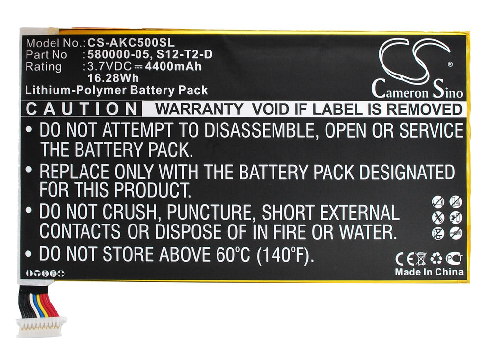 Battery for Amazon KC5, Kindle Fire HD 2013, Kindle Fire HD 3rd, Kindle HDX 7.0, P48WVB4