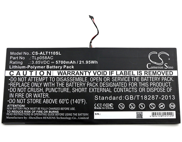 Battery for Alcatel One Touch Plus 10