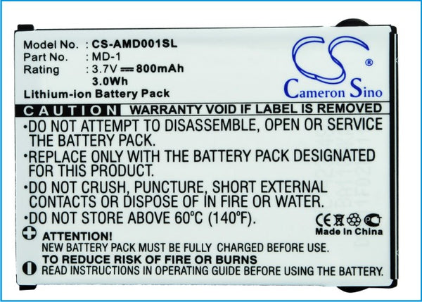 Battery for AMOI MD-1