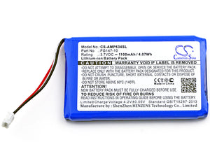 Battery for AMX Mio Modero remote controls, RS634
