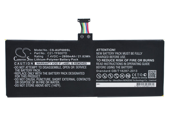 Asus VivoTab TF600T Replacement Battery