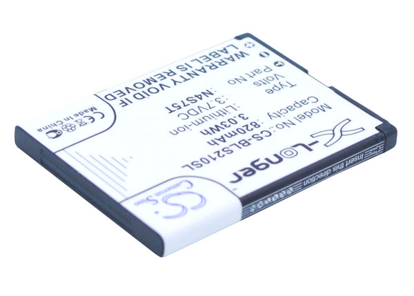 Battery for BLU Deejay II, Deejay Touch, Lindy, Q150, Q190, Q190T, Q61, S210, T150, Tattoo Mini TV