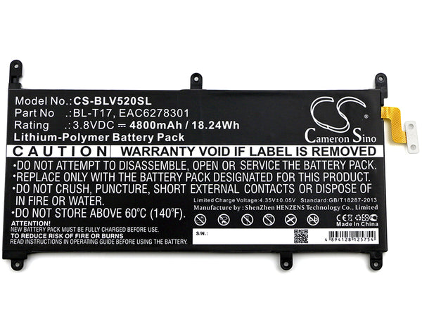 Battery for LG G Pad III 8.0, G Pad X 8.3, VK815