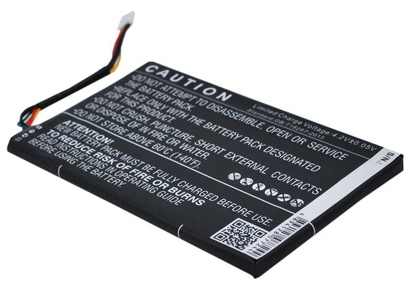 Battery for Barnes & Noble Nook Simple Touch, Simple Touch 6