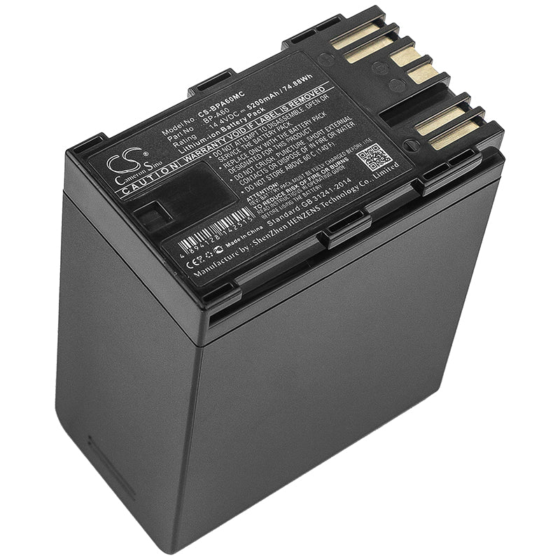 Battery for Canon BP-A60 CA-CP200L, EOS C200, EOS C200 PL