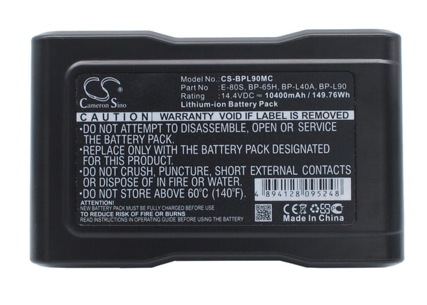 Panasonic AG-DVC200P, AJ-D400, AJ-D410A, AJ-D700, AJ-HDC27FP, AJ-SDX900P Replacement Battery