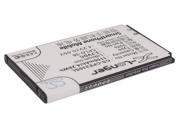 Battery for Coolpad E230, E506, F603, F608, S66