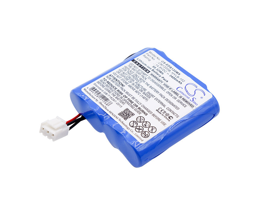 Battery for EDAN M3, M3A Vital Signs Monitor, SE-1, SE-1 ECG, SE-1 EKG, SE-100, SE-12 Express, SE-1200, SE-3, SE-300 (3400mAh)