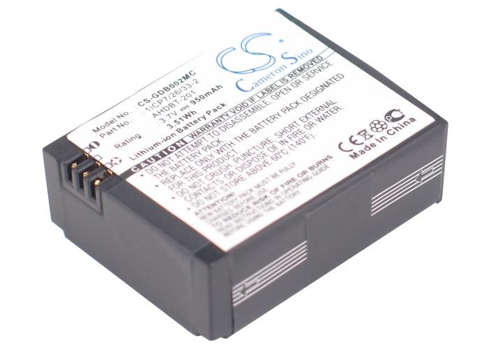 Battery for GoPro Hero 3, 3+ (950mAh)