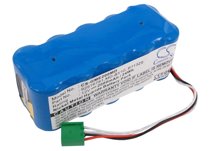 Battery for GE DASH 2000, DASH2000, Marquette Medical Systems DASH, Monitor Dash 2000