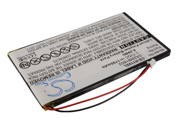 Battery for iRiver H110, H120, H140, H320, H340 MP3 Playmer (1700mAh)