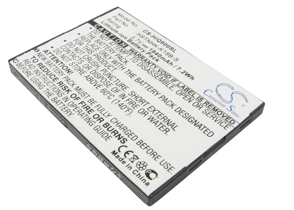 HP iPAQ 900, iPAQ 910, iPAQ 910c, iPAQ 912, iPAQ 912c, iPAQ 914, iPAQ 914c (1940mAh) Replacement Battery
