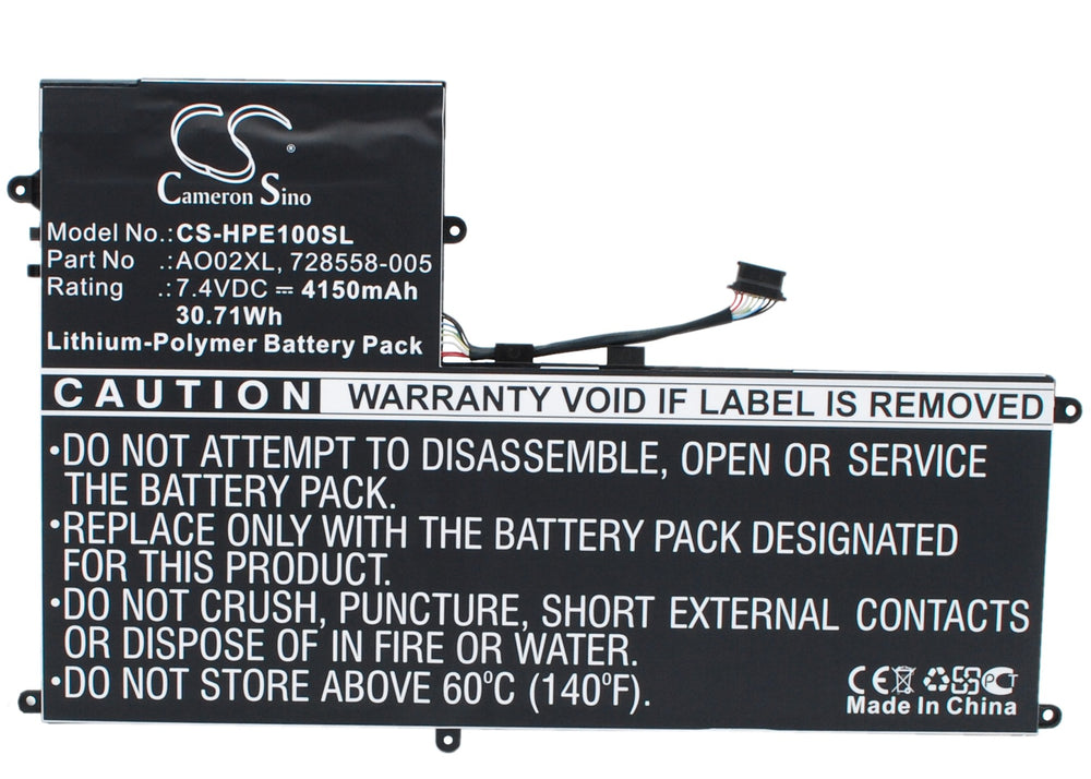 Battery for HP ElitePad 1000, ElitePad 1000 G2, F1Q77EA, J4M73PA#ABG, J5N62UT