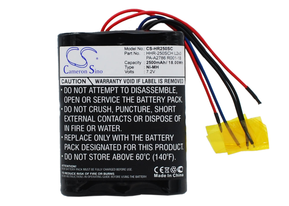 Battery for Panasonic HHR-250SCH L2x3, PA-A2786 R001-1B (2500mAh)