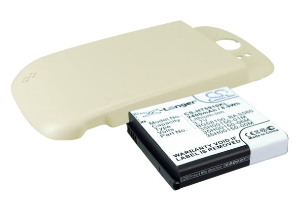 T-Mobile Doubleshot, Mytouch 4G Slide, PG59100 (2400mAh) Replacement Battery