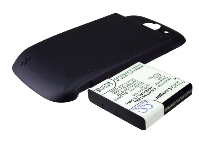 Battery for HTC Doubleshot, Mytouch 4G Slide, PG59100 (2400mAh)