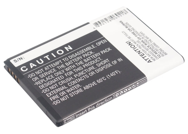 Battery for HTC Droid Incredible 2, ADR6350, ADR6350VW (1600mAh)