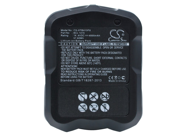 Hitachi C-2, CJ 14DL, DH 14DL, DH 20DV, DS 14DAF2, DS 14DFL, DS 14DFLG, DS 14DL, DS 14DMR, DS 14DV, DS 14DVA (4000mAh) Replacement Battery