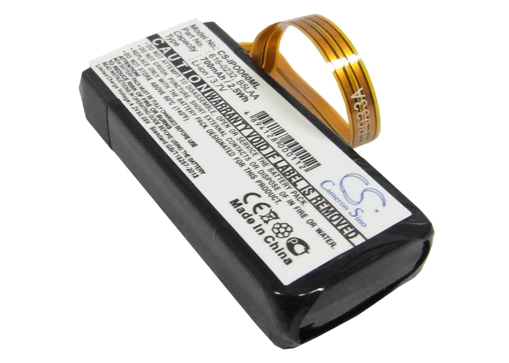 Battery for Microsoft JS8-00003, Zune 1089, Zune 1090, Zune 1091, Zune 30GB, Zune JS8-00001, Zune JS8-00002