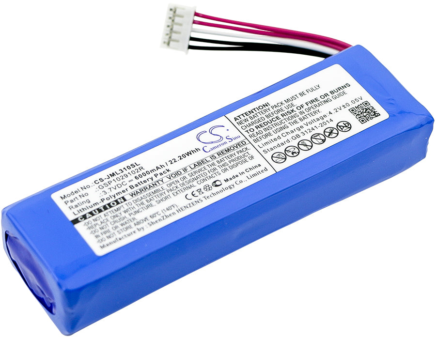 Battery for JBL Charge 2, Charge 2 Plus, Charge 2+, Charge 3 2015, Charge 3 2015 Version