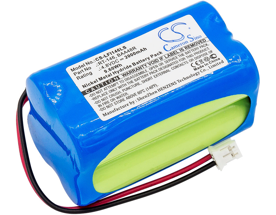 Battery for LFI Daybrite Emergi-Lite BAA48R, Light Alarms BL93NC487, Lights Emergency Light
