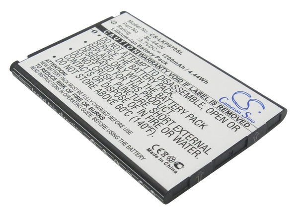 LG AS680, AS860 Ignite, C660 Pro, Connect 4G, E400, E400F, E405, E405F, E420, E425F, E435F, E510, E510F, E610 (1200mAh) Replacement Battery