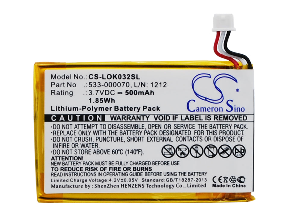 Battery for Logitech Ultratin Keyboard Cover, Y-R0032