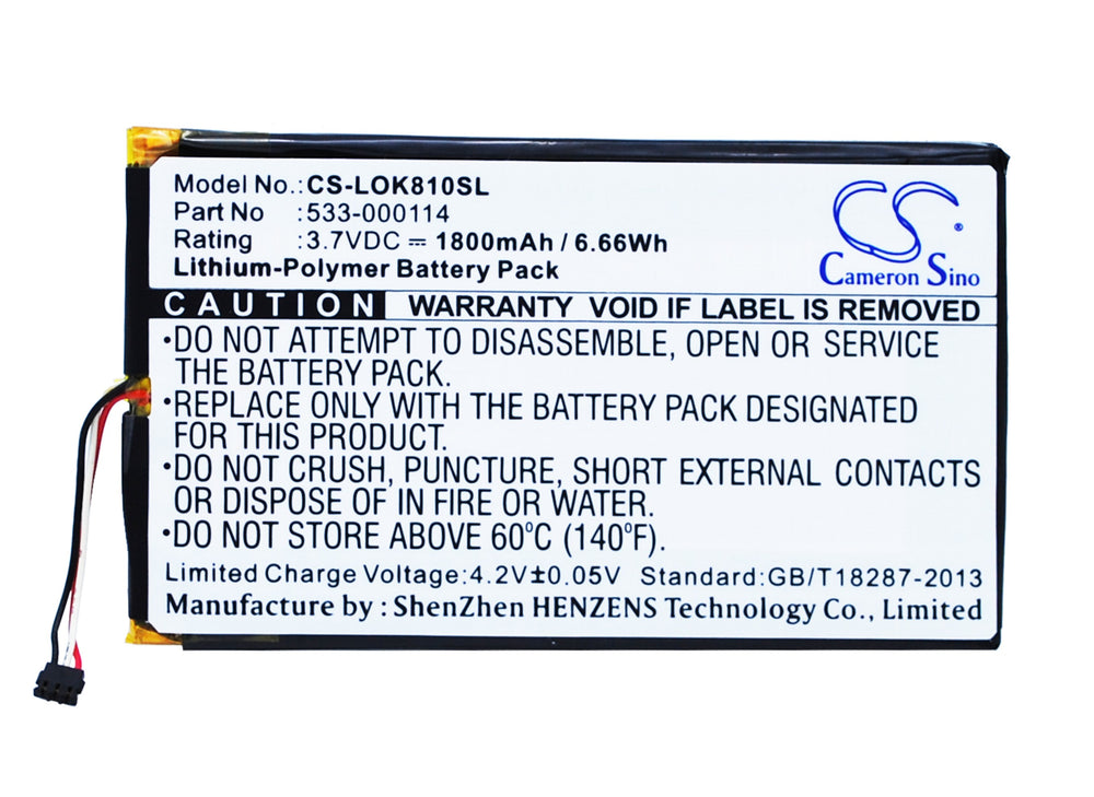 Battery for Logitech IIIuminated Keyboard K810, K810