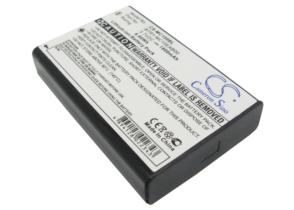 Battery for Symbol MC1000, MC1000-KH0LA2U0000, MC1000-KU0LA2U000R, MC1000-KU0LA2U000R-KIT, MC1000-KU0LF2K000R (1800mAh)
