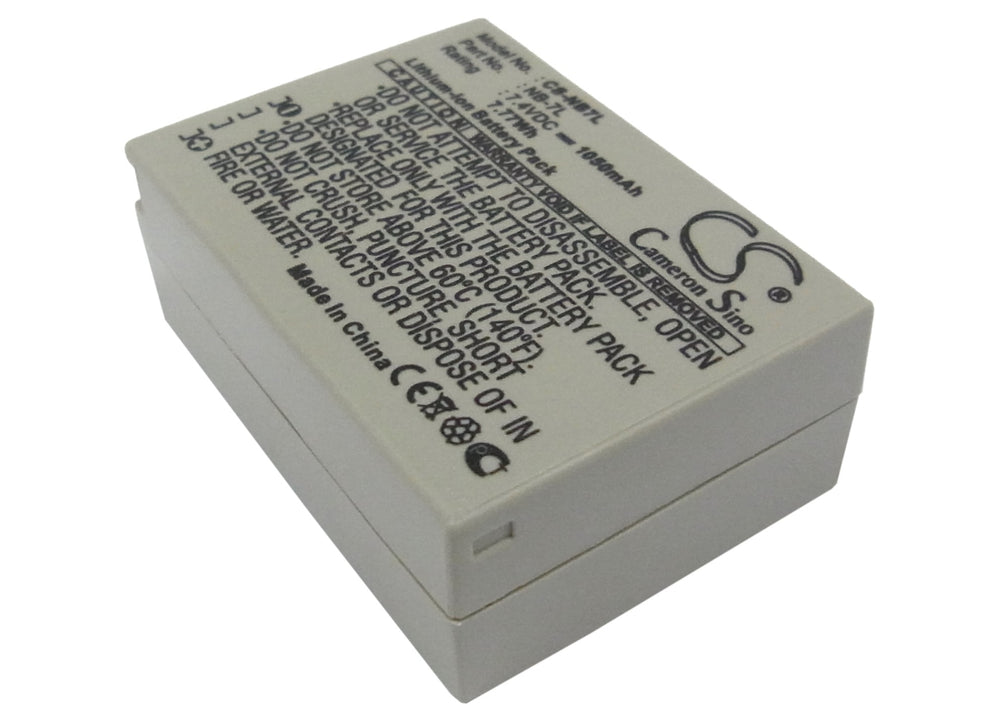 Battery for Canon PowerShot G10, PowerShot G10 IS, PowerShot G11, PowerShot G12