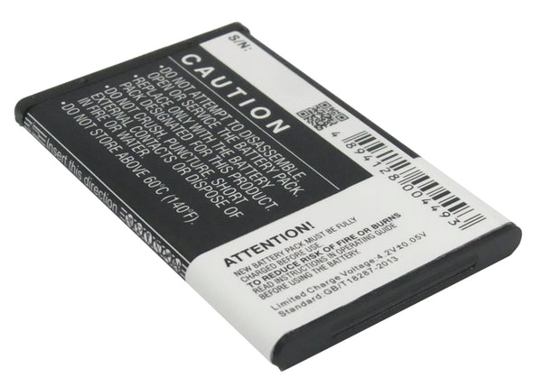 Battery for Nokia 1265,1325,2650,2651,2652,3108,5100,6066,6088,6100,6101, 6102i,6103,6125,6126,6131,6133 (750mAh)