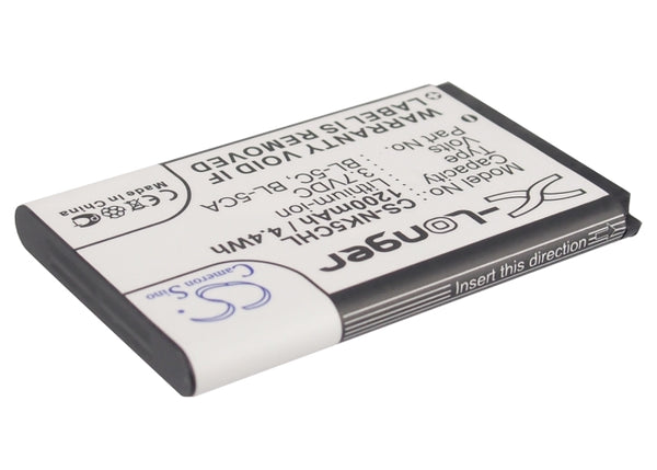 Battery for Wintec WBT-202 (1200mAh)