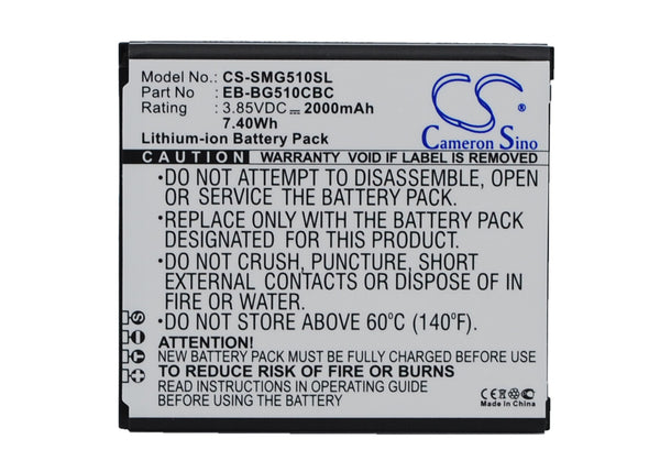 Samsung Galaxy Core Max, Galaxy Core Max Duos, SM-G5108, SM-G5108Q, SM-G5109, SM-G510F (2000mAh) Replacement Battery