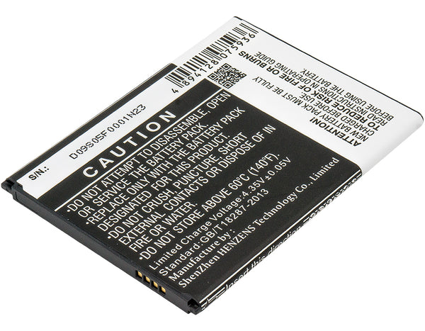 Battery for Samsung Galaxy Mega 6.3, Galaxy Mega 6.3 Duos, Galaxy Mega 6.3 LTE, Galaxy Mega 6.3 LTE 8GB, Galaxy Mega 7.0 (3200mAh)