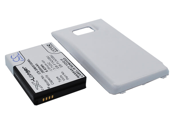 Samsung Galaxy S II, Galaxy S2, GT-I9100 (2600mAh) Replacement Battery