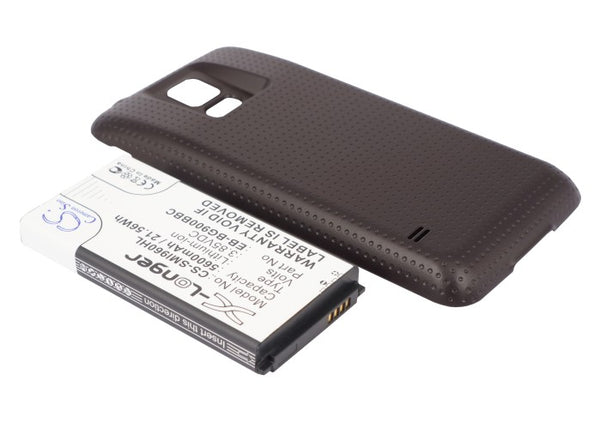 Battery for Samsung Galaxy S5, Galaxy S5 LTE, GT-I9600, GT-I9602, GT-I9700, SM-G900, SM-G9006V, SM-G9008V, SM-G9009D (5600mAh)