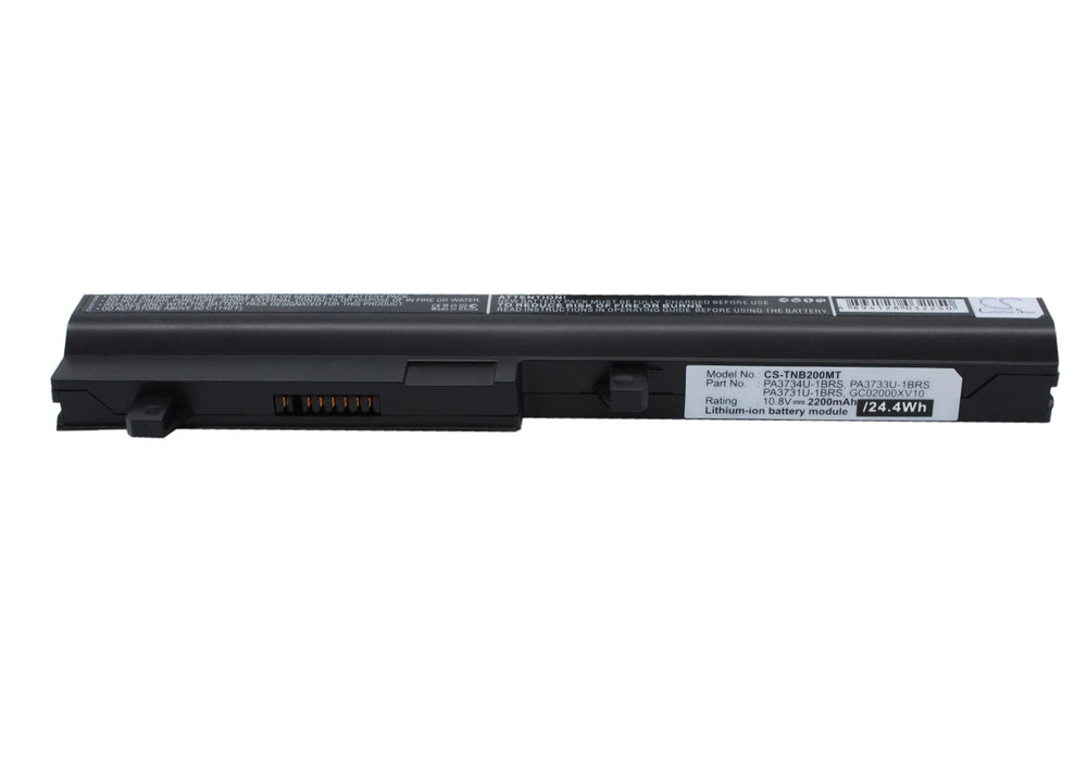 Battery for Toshiba Dynabook UX/ 23JBR, Dynabook UX/ 23JWH, Dynabook UX/ 24JBR, Dynabook UX/ 24JWH, Mini NB200 (2200mAh)