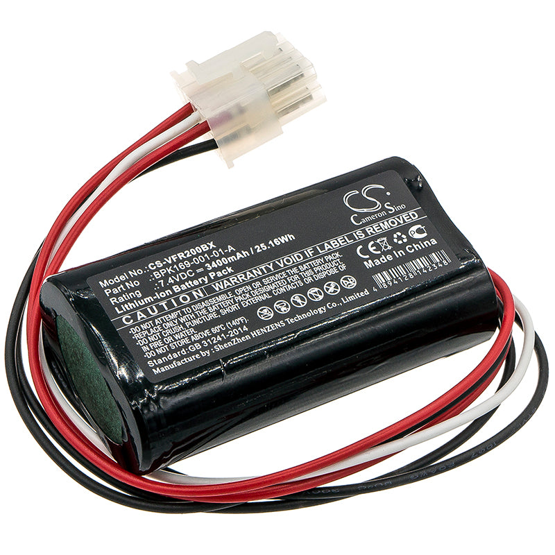 Battery for Verifone PCA169-001-01, PCA169-404-01-A, Ruby 2