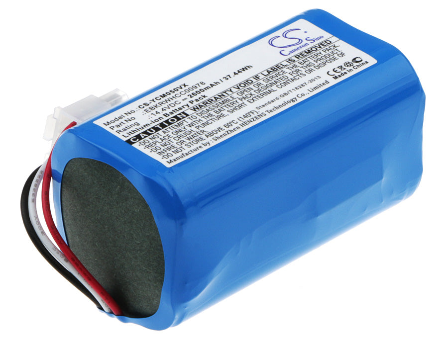 Battery for iCLEBO ARTE YCR-M05, POP YCR-M05-P, Smart YCR-M04-1, Smart YCR-M05-10, YCR-M05-10, YCR-M05-11, YCR-M05-20 (2600mAh)
