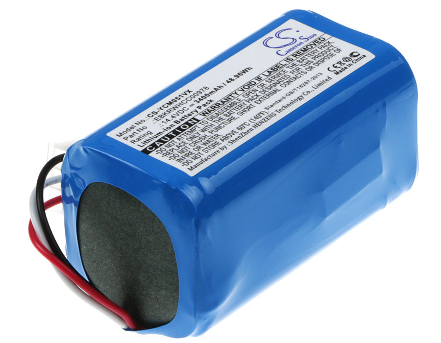 Battery for iCLEBO ARTE YCR-M05, POP YCR-M05-P, Smart YCR-M04-1, Smart YCR-M05-10, YCR-M05-10, YCR-M05-11, YCR-M05-20 (3400mAh)