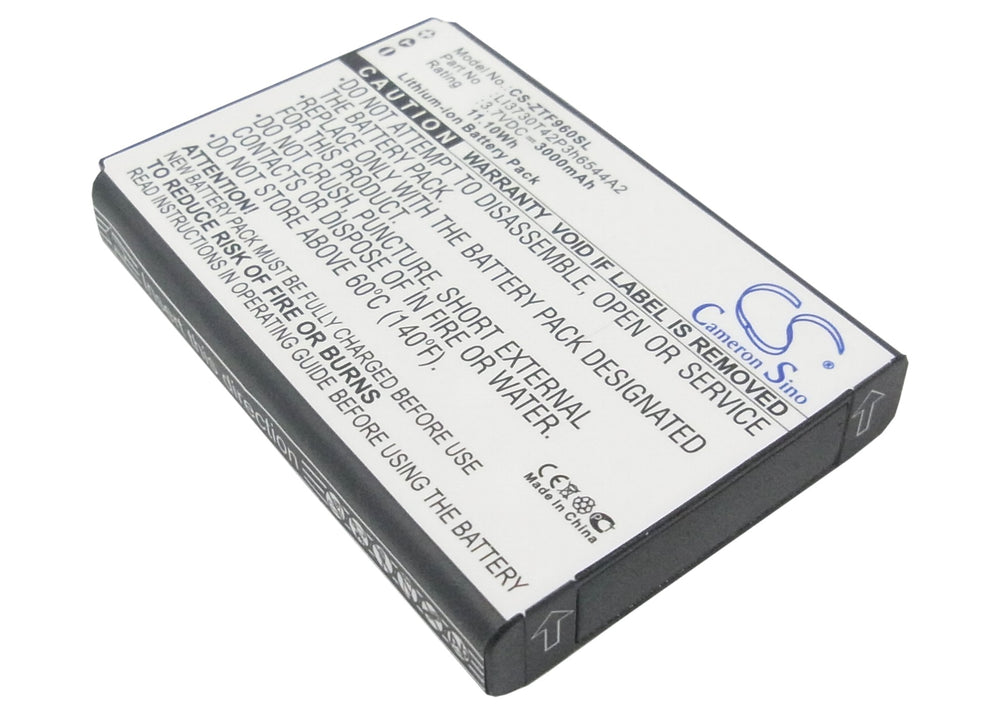 Battery for ZTE MF96, MF96U, SRQ-Z289L, Z289, Z289L (3000mAh)