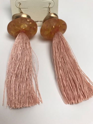 Ella Faux Stone Tassel Earrings
