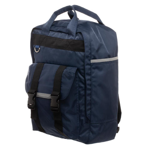Men's Square Backpack  Grey Built Up Backpack for Men