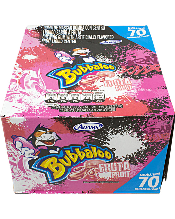 Adams Bubbaloo Gum with Liquid Center (Box of 70)
