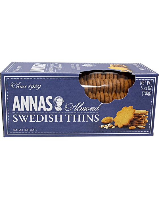 Annas Swedish Thins Almond (Pepparkakor Cookies)