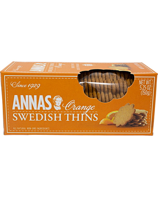 Annas Swedish Thins, Orange Flavor (Pepparkakor Cookies)