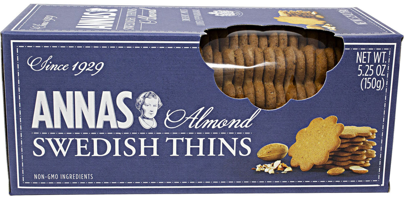 Annas Swedish Thins, Almond (Pepparkakor Cookies) - 5.2 oz / 150 g