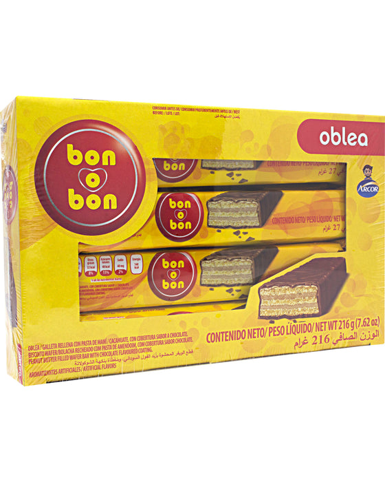 Arcor Bon o Bon Oblea (Peanut Butter-Filled Wafer)