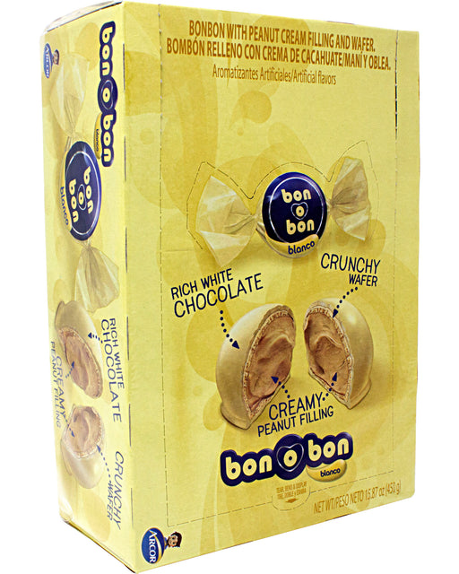 Arcor Bon o Bon White Chocolate Bonbons (Peanut Filled)