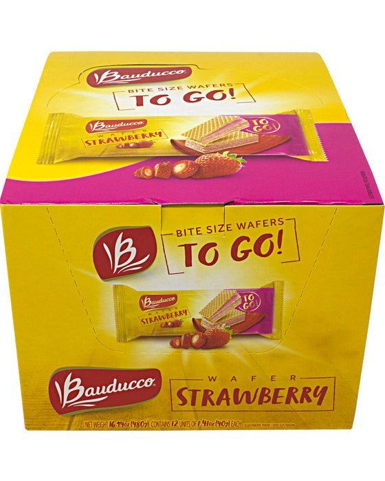Bauducco To Go! Wafers, Bite-Size (Strawberry)